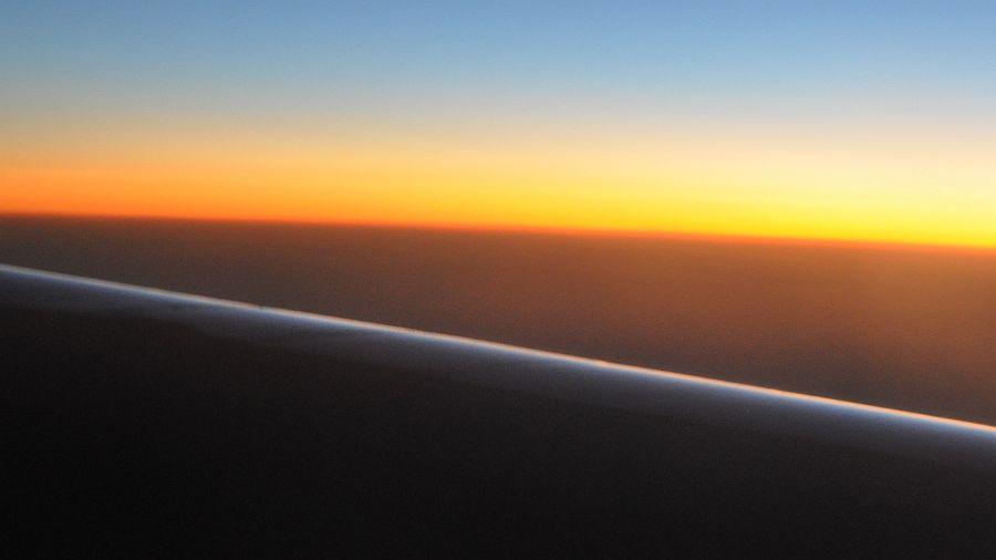 Sunset auf 10.000 Meter Höhe