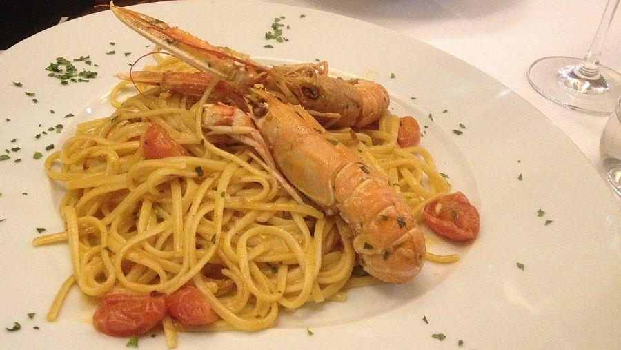 gambas-spagetti