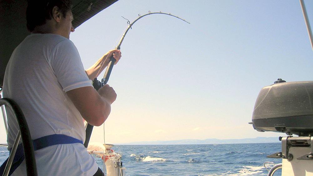 segeln-fisch-an-schleppangel