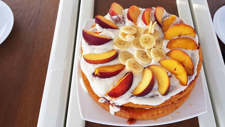 Gourmet Segeltörn - selbstgemachte Obsttorte vom Skipper