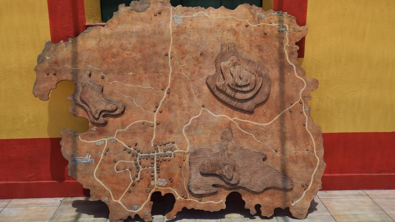 Linosa - selbstgemachte Landkarte