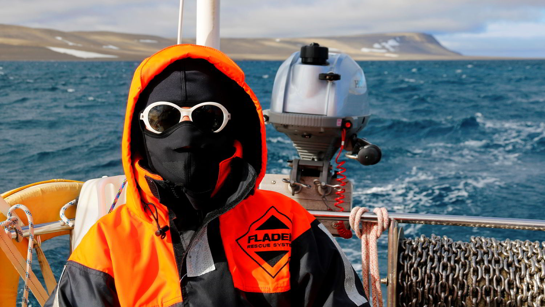 Seenomaden Doris Renoldner bei extremen Wetterbedingungen