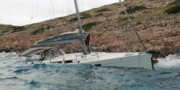 Yacht Totalverlust wegen einer durchgescheuerten Festmacherleine